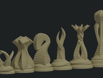 طرح سه بعدی مهره شطرنج