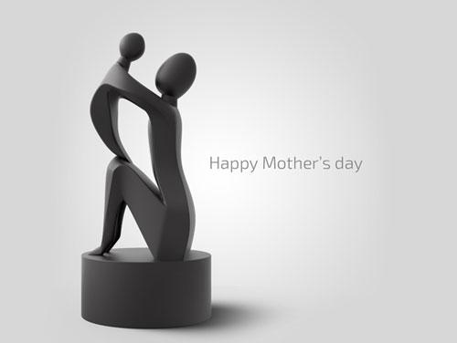 طرح سه بعدی تندیس مادر