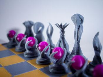 طرح سه بعدی کره مهره های شطرنج