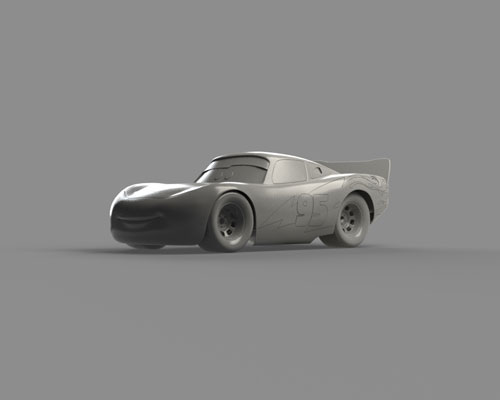 طرح سه بعدی ماشین مسابقه