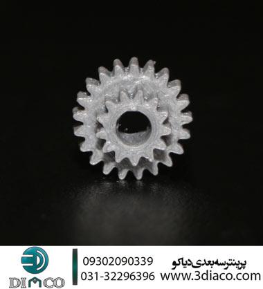 پرینت سه بعدی چرخ دنده 2 – پرینترهای سه بعدی اصفهان