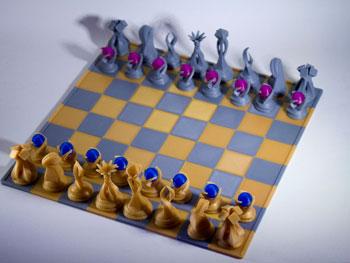 طرح سه بعدی صفحه شطرنج
