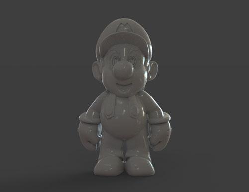 طرح سه بعدی شخصیت کارتنی ماریو