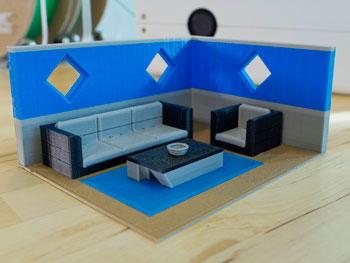 طرح سه بعدی اتاق