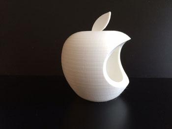 طرح سه بعدی سیب