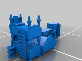 طرح سه بعدی تخت
