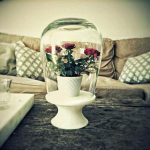 طرح سه بعدی گلدان رومیزی