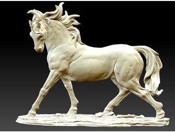 طرح سه بعدی مجسمه اسب