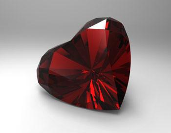 طرح سه بعدی قلب الماسی