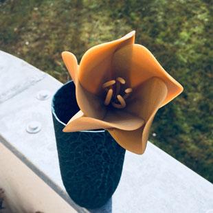 طرح سه بعدی گل – پرینت سه بعدی