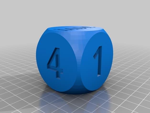 طرح سه بعدی تاس