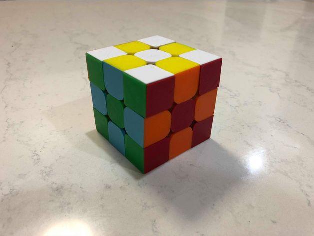 طرح سه بعدی روبیک رنگی