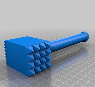 طرح سه بعدی استیک کوب
