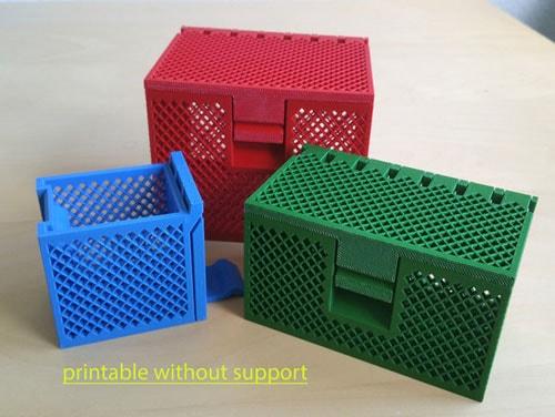 طرح سه بعدی جعبه