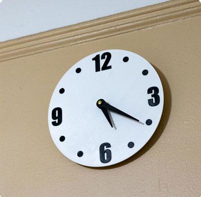 طرح سه بعدی ساعت