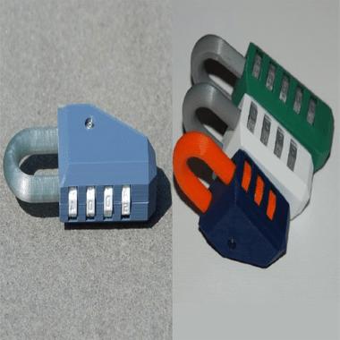 پرینت سه بعدی قفل رمزدار