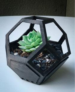 طرح سه بعدی گلدان