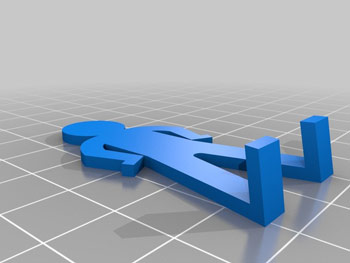طرح سه بعدی مرد صفحه ای