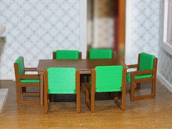 طرح سه بعدی میز غذاخوری