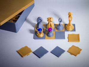 طرح سه بعدی شطرنج