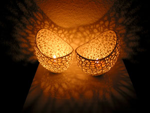 طرح سه بعدی جا شمعی