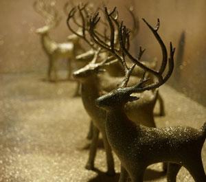 طرح سه بعدی گوزن کریسمس