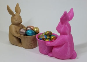 طرح سه بعدی شکلات خوری خرگوشی