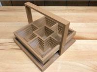 طرح سه بعدی سبد رومیزی