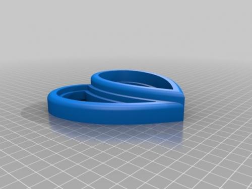 طرح سه بعدی جعبه جواهرات رز