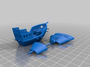 طرح سه بعدی کشتی
