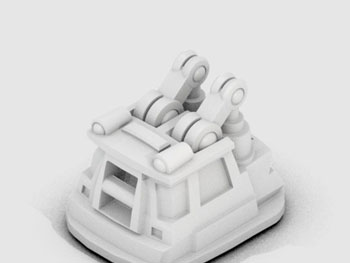 طرح سه بعدی جرثقیل کوچک 4